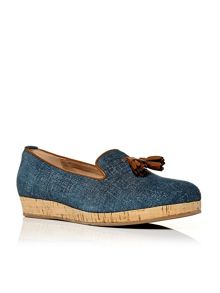 Moda in Pelle Estana cork sole slippers