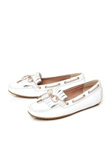 Elettra square toe boat shoes