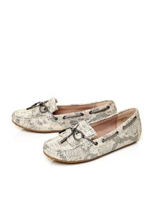 Moda in Pelle Elettra square toe boat shoes