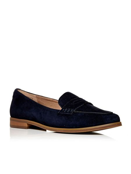 Moda in Pelle Emico penny suede loafers