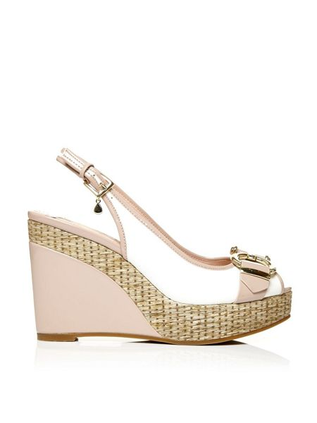 Moda in Pelle Paolina slingback wedged sandals