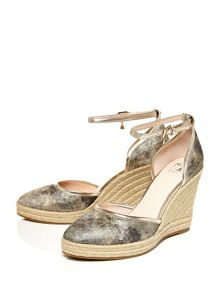 Moda in Pelle Quintas two part canvas sandals