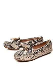 Elda flat moccasin shoes
