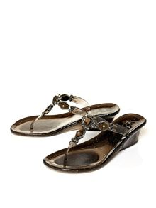 Moda in Pelle Remo low wedge jelly sandals