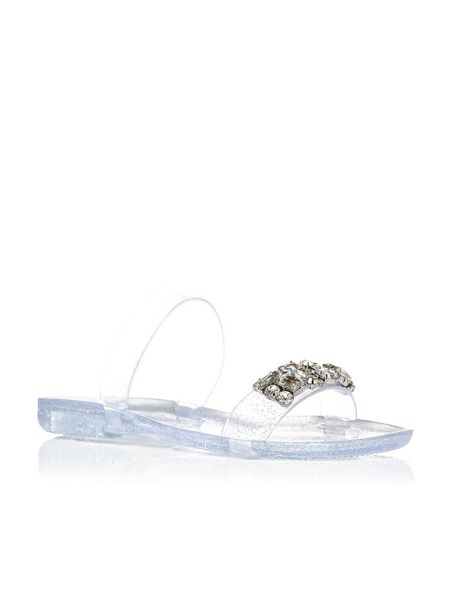 Moda in Pelle Rosaria flat slip on jelly sandals