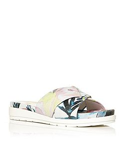 Niccolo low wedge slip on sports sandals
