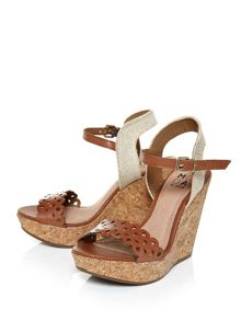 Moda in Pelle Paderna cork wedge sandals