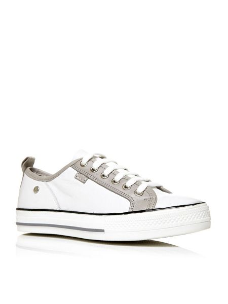 Moda in Pelle Alfrida lace up trainers