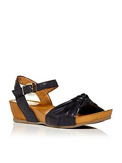 Phebe low wedge two part sandals