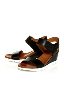 Moda in Pelle Pinero two part wedged sandals