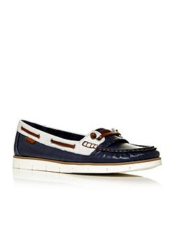 Abano moccasin boat shoes