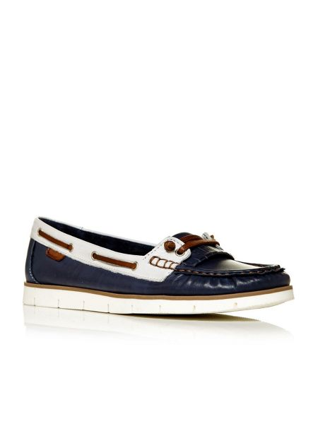 Moda in Pelle Abano moccasin boat shoes