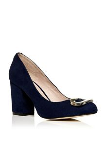 Moda in Pelle Celesta block heeled court shoes