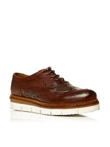 Borello contrast sole brogues