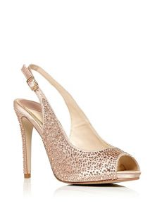 Moda in Pelle Karolina high peep toe slingback shoes
