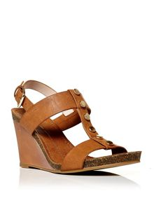Moda in Pelle Parola low wedged sandals
