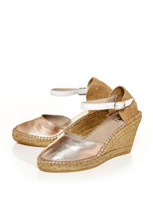 Moda in Pelle Rubertia espadrille wedge sandals