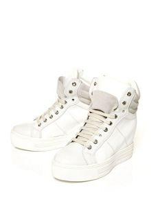 Moda in Pelle Grapple hidden wedged trainers