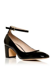 Moda in Pelle Dalmine mid block heel court shoes