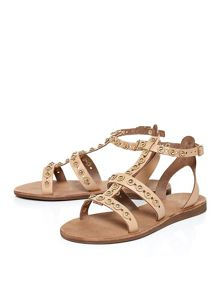 Moda in Pelle Orio gladiator style sandals