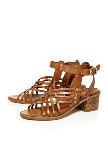 Moda in Pelle Larchi block heel sandals