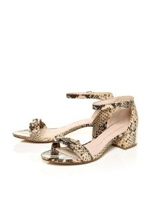Moda in Pelle Luana two part mid heel sandals