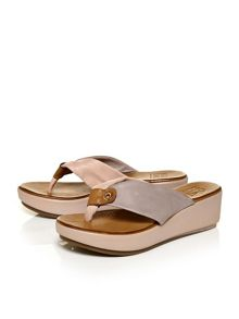 Moda in Pelle Pavan low wedged sandals