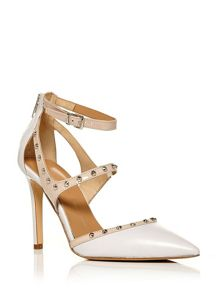 Moda in Pelle Isotta high point toe court shoes