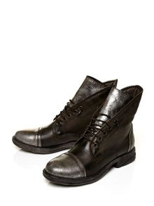 Moda in Pelle Ulm lace up military style boots