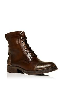 Ullage lace up military style calf boots