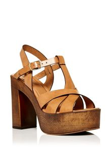 Moda in Pelle Parla high heel platform sandals