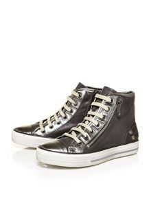 Moda in Pelle Argentias hi-top trainers