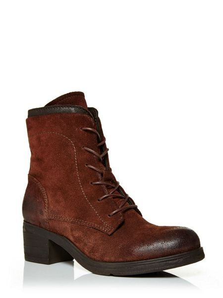 Moda in Pelle Castian worker style lace up ankle boots