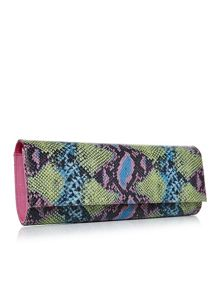 Moda in Pelle Iona long boxy clutch bag
