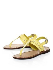 Moda in Pelle Morga studded flat sandals