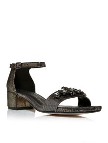 Moda in Pelle Sartine mid block sandals