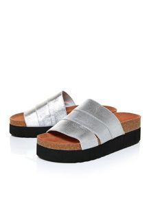 Moda in Pelle Pollie slab footbed sandals