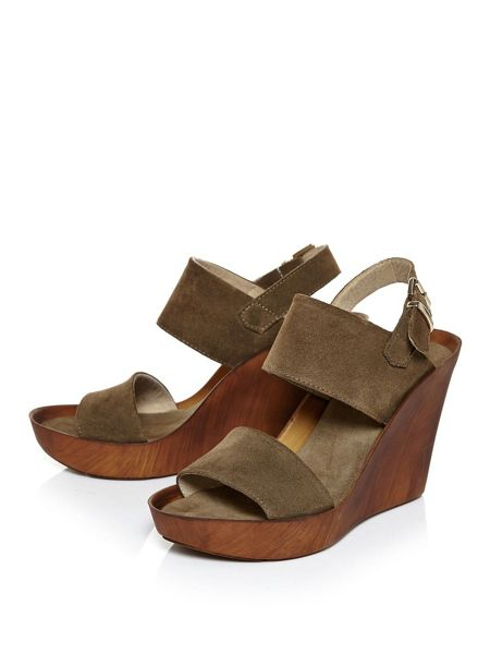 Moda in Pelle Pacelli 2 part wedge sandals