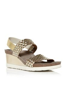 Moda in Pelle Pryma elastic back wedge sandals