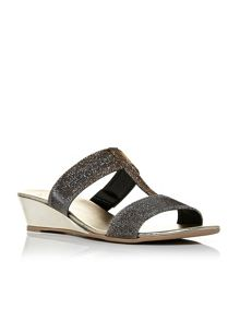 Moda in Pelle Plazo t-bar wedge sandals