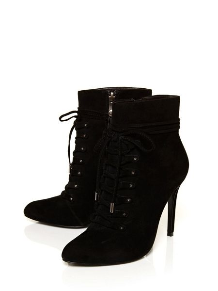Moda in Pelle Lolia lace feature boots