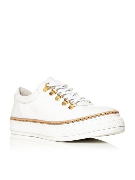 Moda in Pelle Fontro lace up trainers
