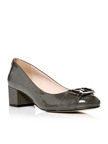 Moda in Pelle Catanese  block heel court shoes