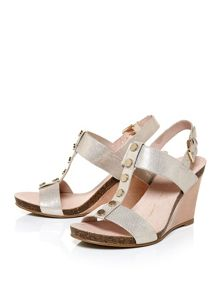 Moda in Pelle Parola low wedge sandals