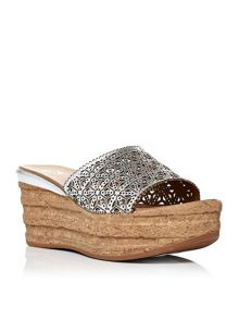 Moda in Pelle Pranza wedge mules