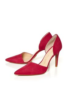 Moda in Pelle Clementina pointed high heel court shoes