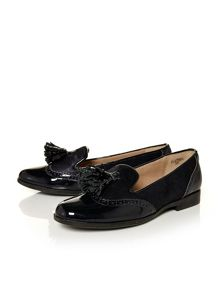 Moda in Pelle Eastern brogue style loafers