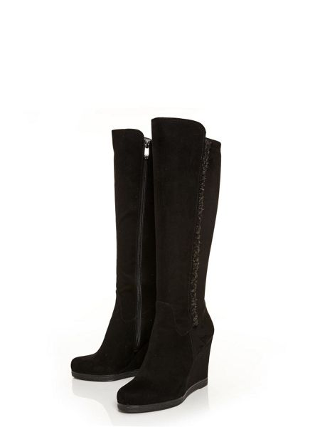 Moda in Pelle Hara long wedged boots