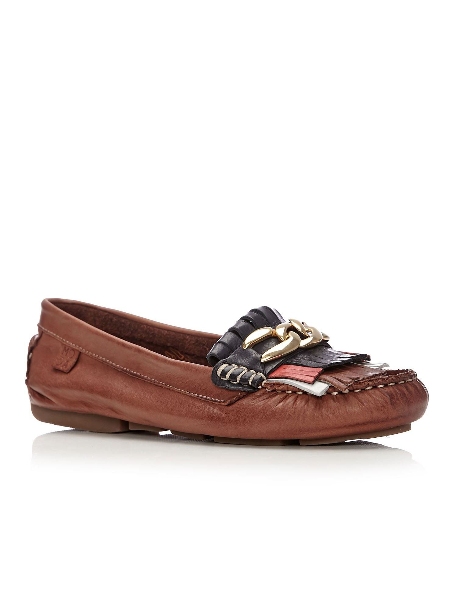 Moda in Pelle Amily Flat Casual Shoes, Tan