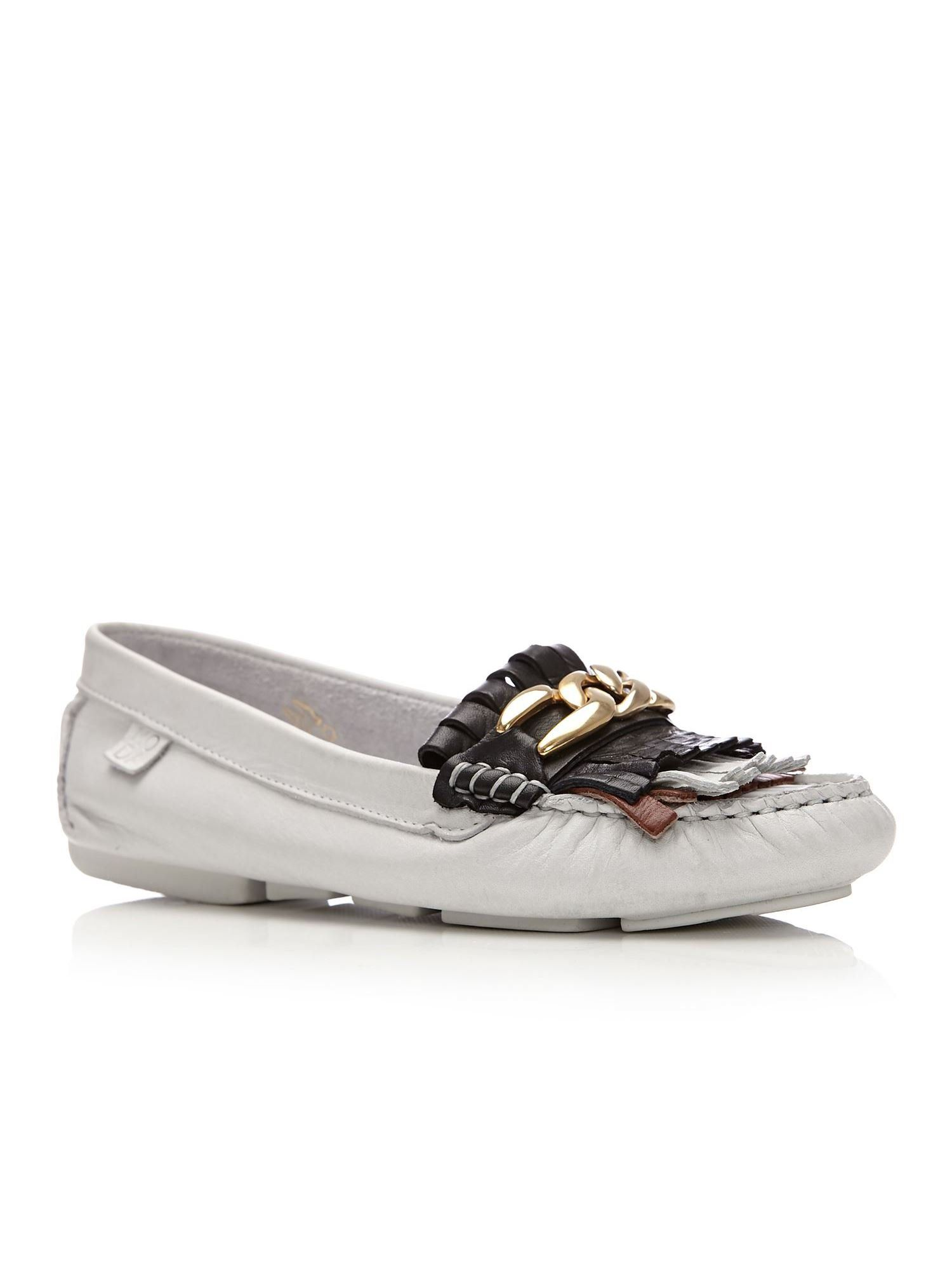 Moda in Pelle Amily Flat Casual Shoes, White